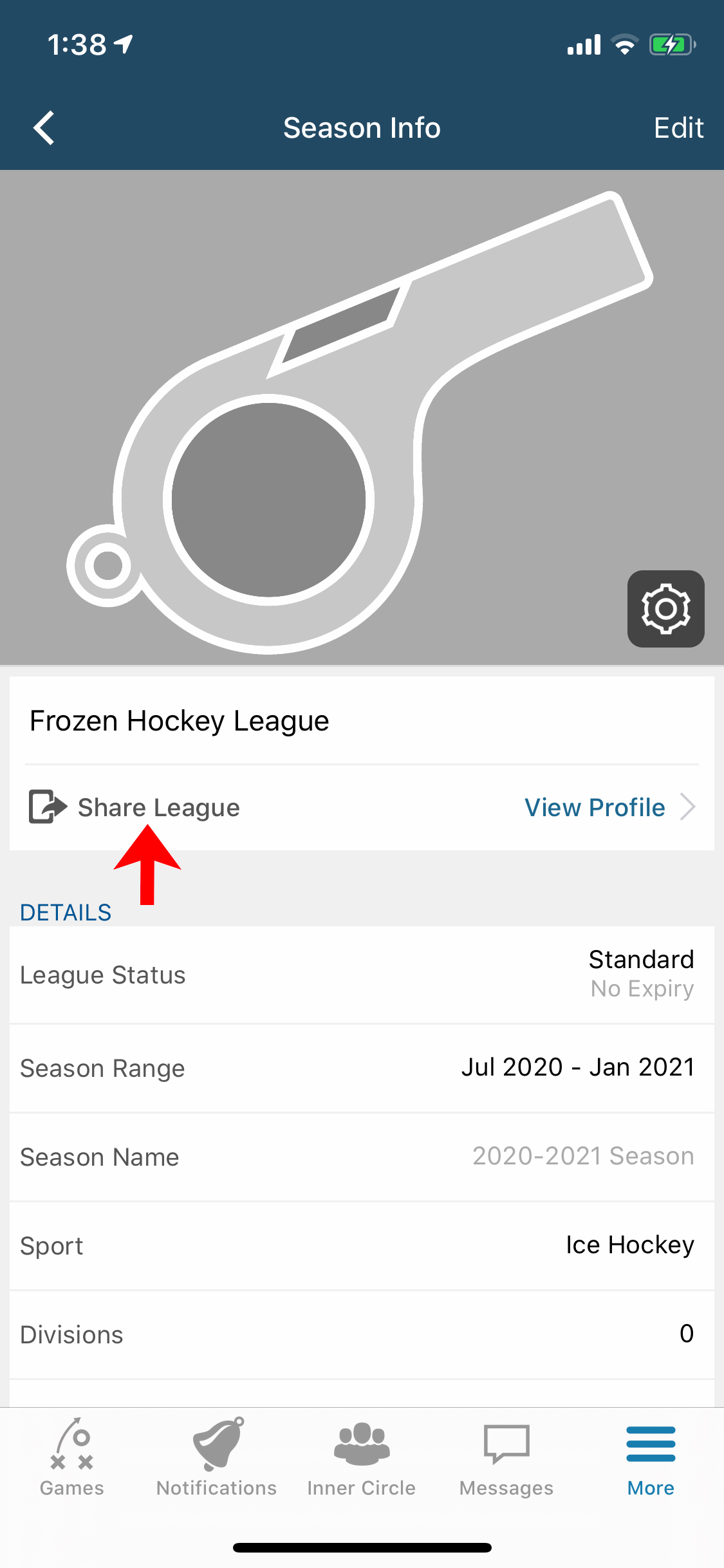 league-profile-share-button