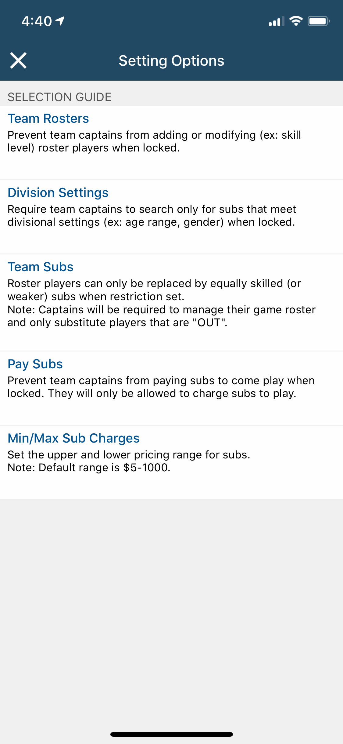 league-settings-options